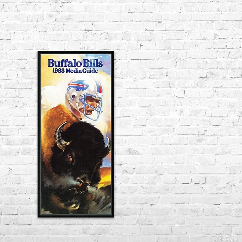 1983 Buffalo Bills Media Guide Artist Bill Ersland HD Sublimation Metal print with Decorating Float Frame (BOX)