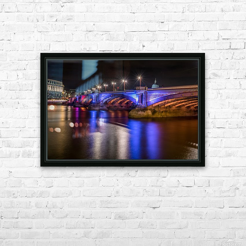 London Bridge at night HD Sublimation Metal print with Decorating Float Frame (BOX)