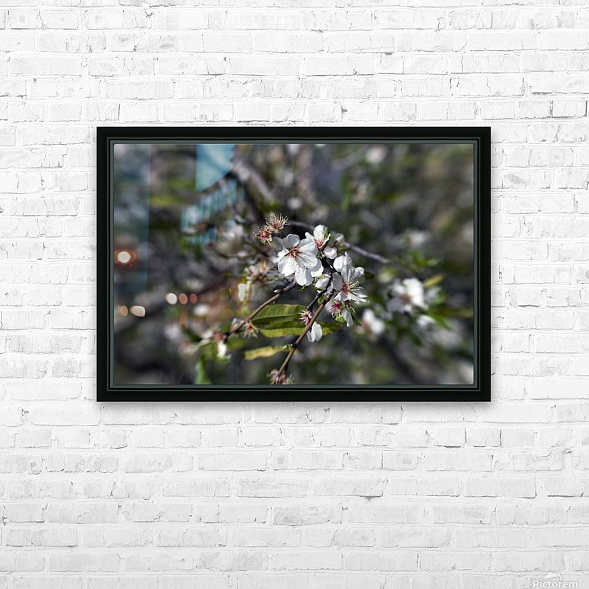 Flowering almonds 2 HD Sublimation Metal print with Decorating Float Frame (BOX)