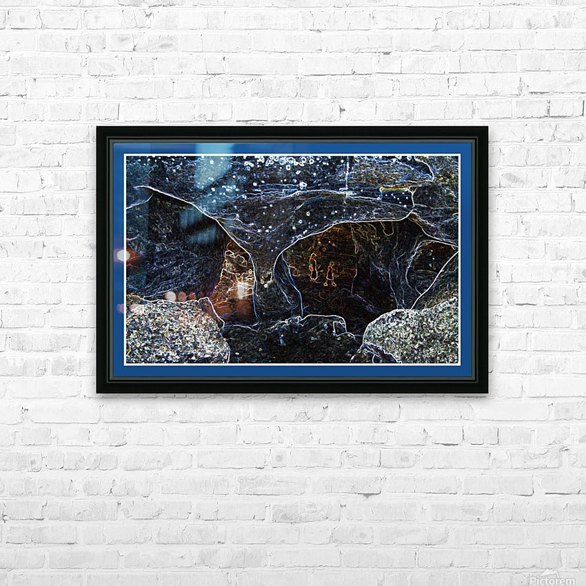 Cave HD Sublimation Metal print with Decorating Float Frame (BOX)