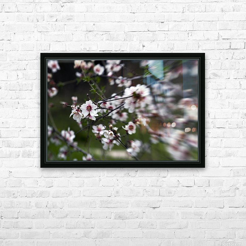 Flowering almonds 1 HD Sublimation Metal print with Decorating Float Frame (BOX)