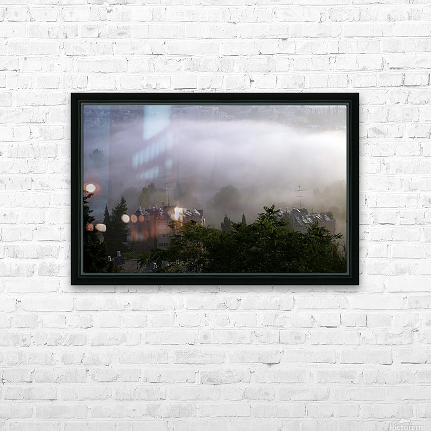 Foggy morning N2 HD Sublimation Metal print with Decorating Float Frame (BOX)