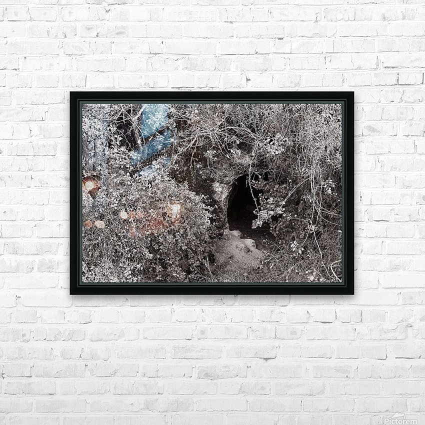 Cave entrance HD Sublimation Metal print with Decorating Float Frame (BOX)