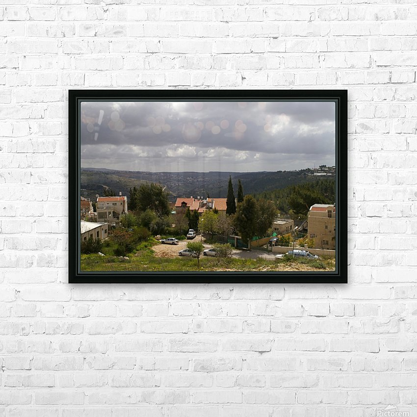 South Jerusalem HD Sublimation Metal print with Decorating Float Frame (BOX)