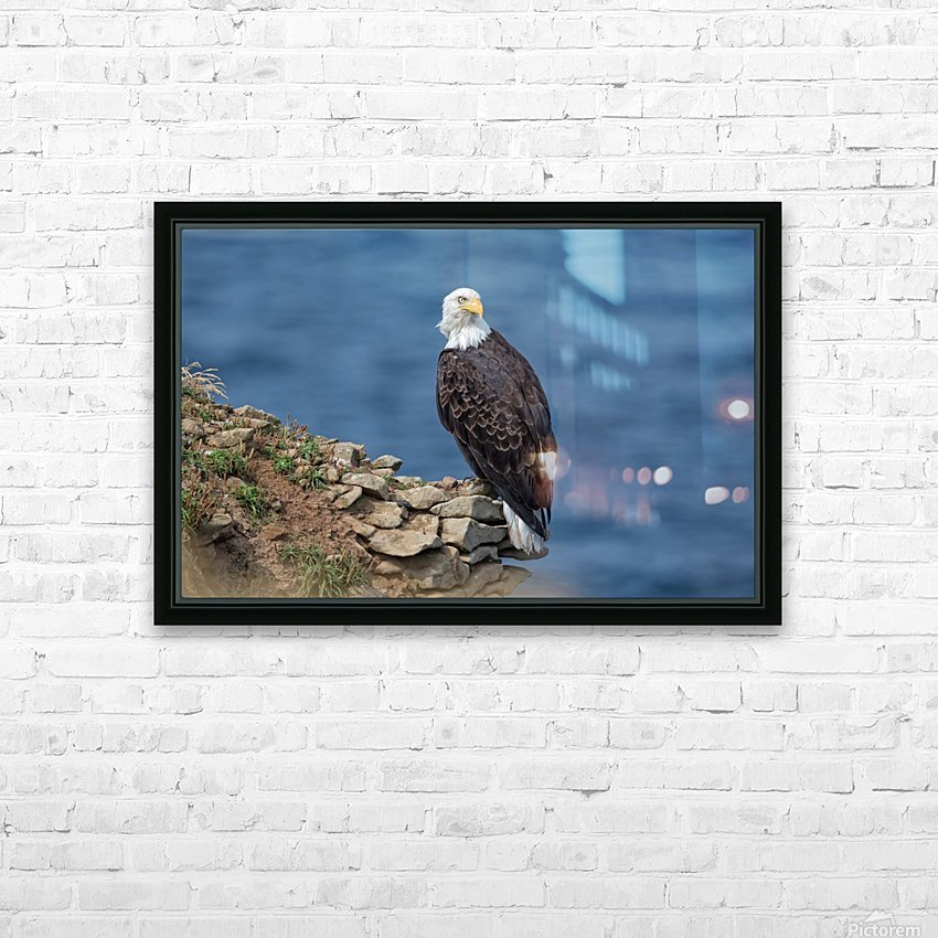 Perched and Proud HD Sublimation Metal print with Decorating Float Frame (BOX)