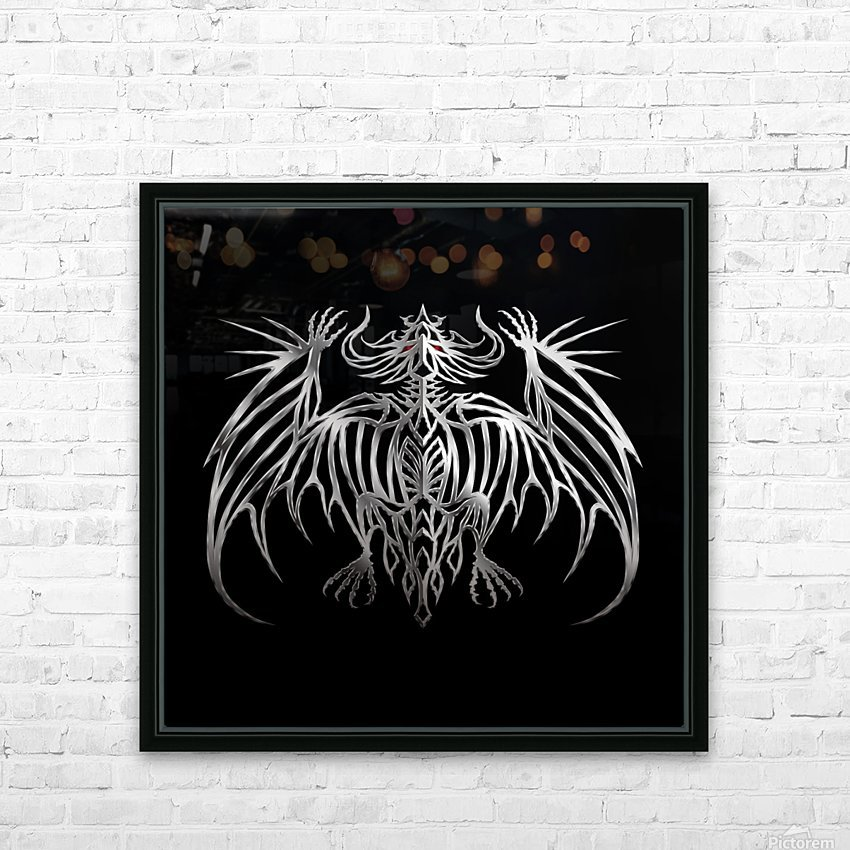 Drakulax Demonium HD Sublimation Metal print with Decorating Float Frame (BOX)