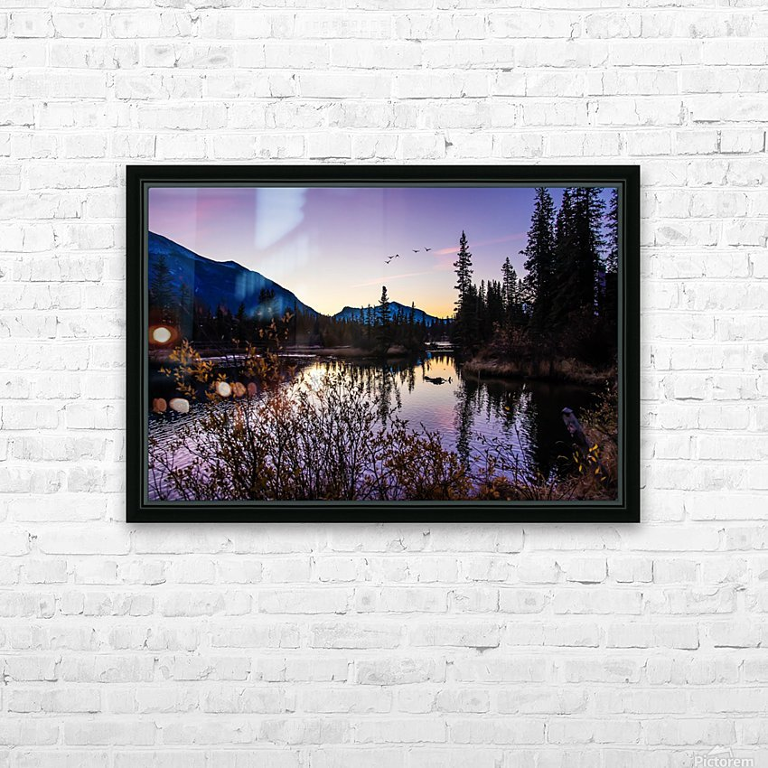 As Ducks Fly Policemans Creek Canmore HD Sublimation Metal print with Decorating Float Frame (BOX)