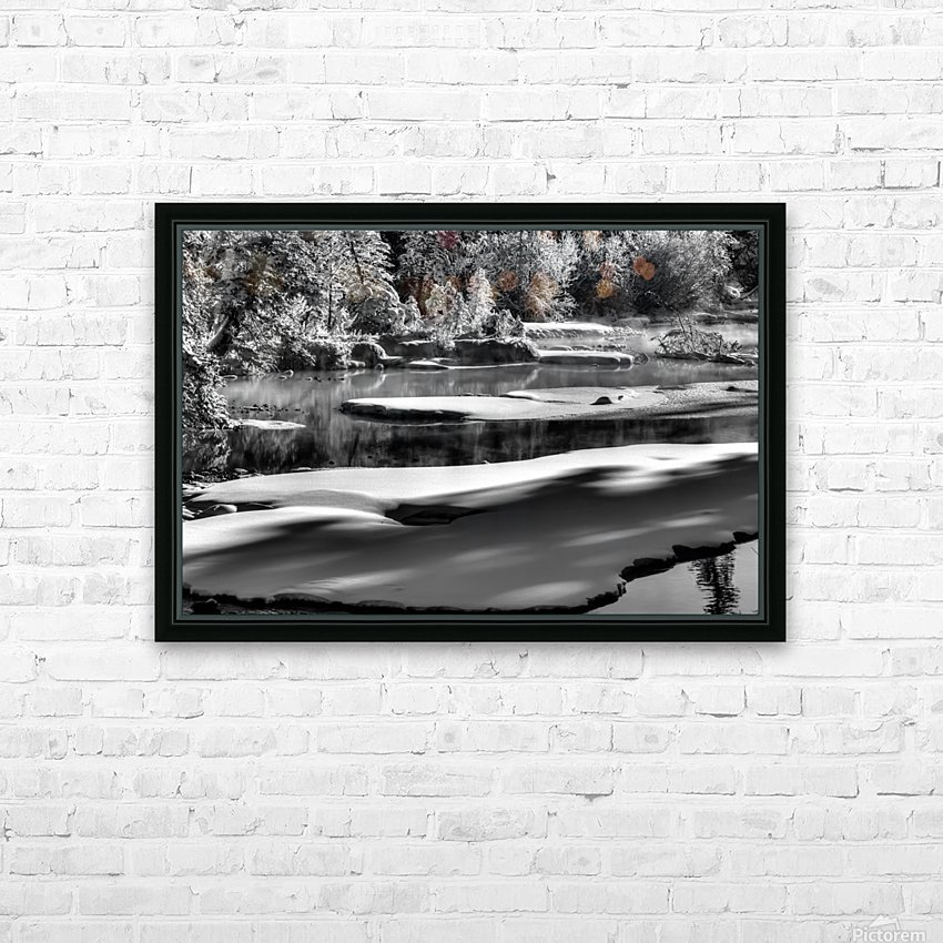 Frosty Creek In Alberta  HD Sublimation Metal print with Decorating Float Frame (BOX)