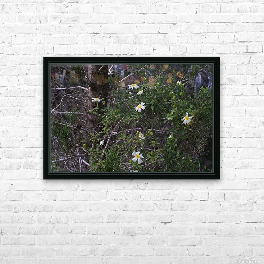 Forest flowers HD Sublimation Metal print with Decorating Float Frame (BOX)