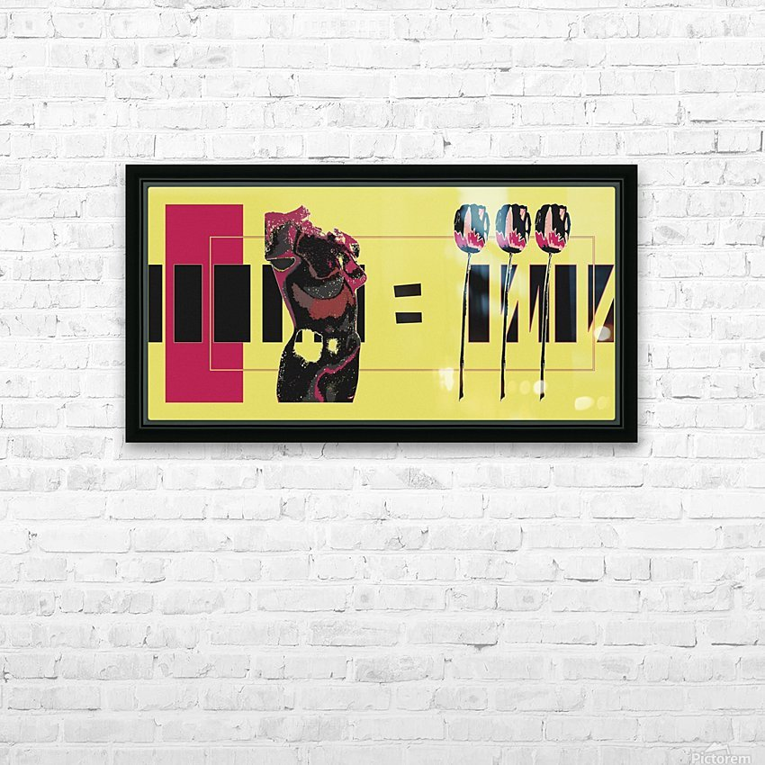 3 Lips HD Sublimation Metal print with Decorating Float Frame (BOX)