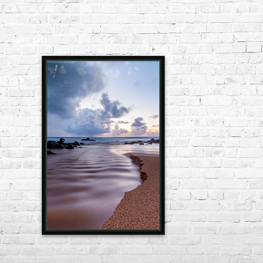 Where the Heavens Meet the Sea HD Sublimation Metal print with Decorating Float Frame (BOX)