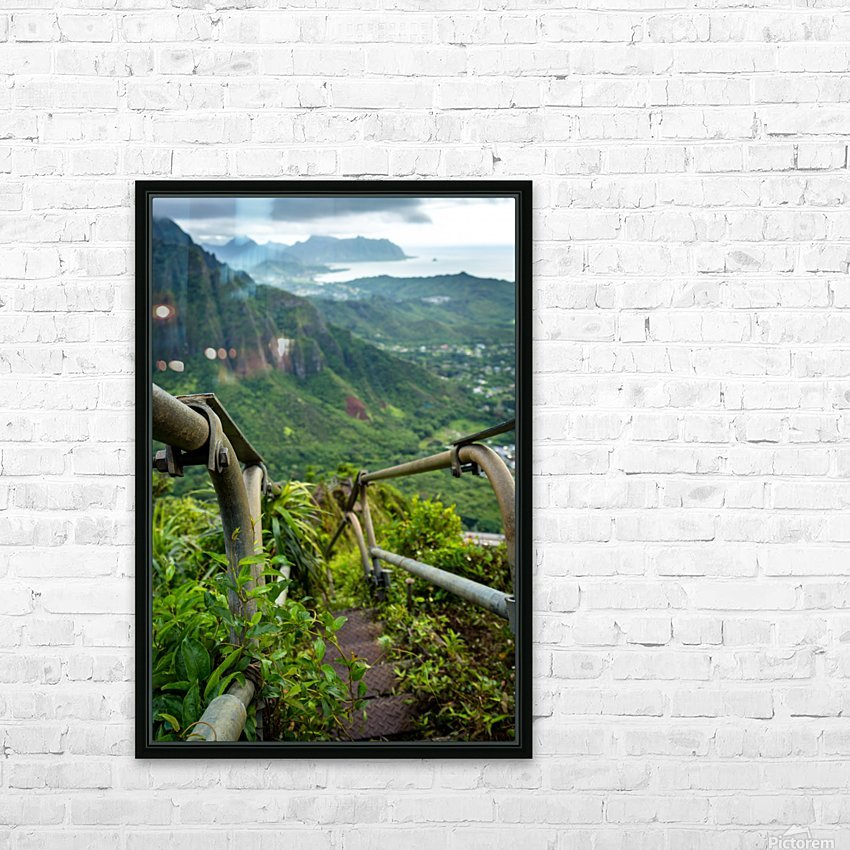 Stairway HD Sublimation Metal print with Decorating Float Frame (BOX)