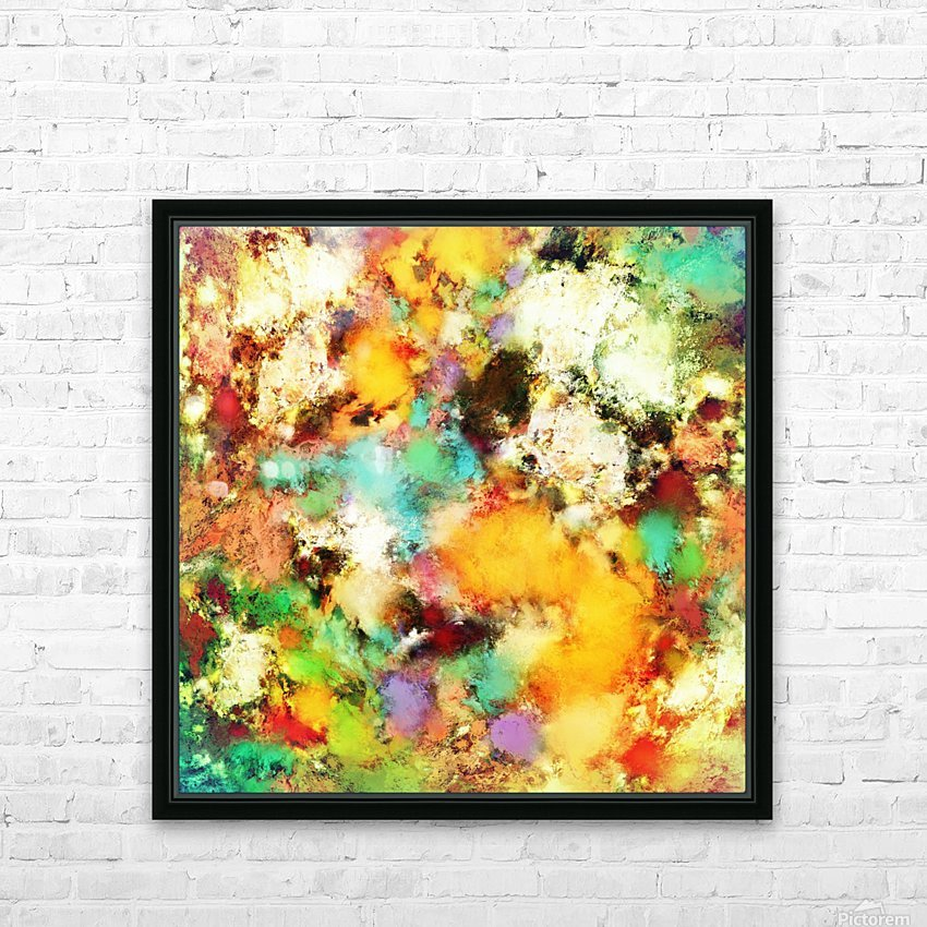A distorted impact HD Sublimation Metal print with Decorating Float Frame (BOX)