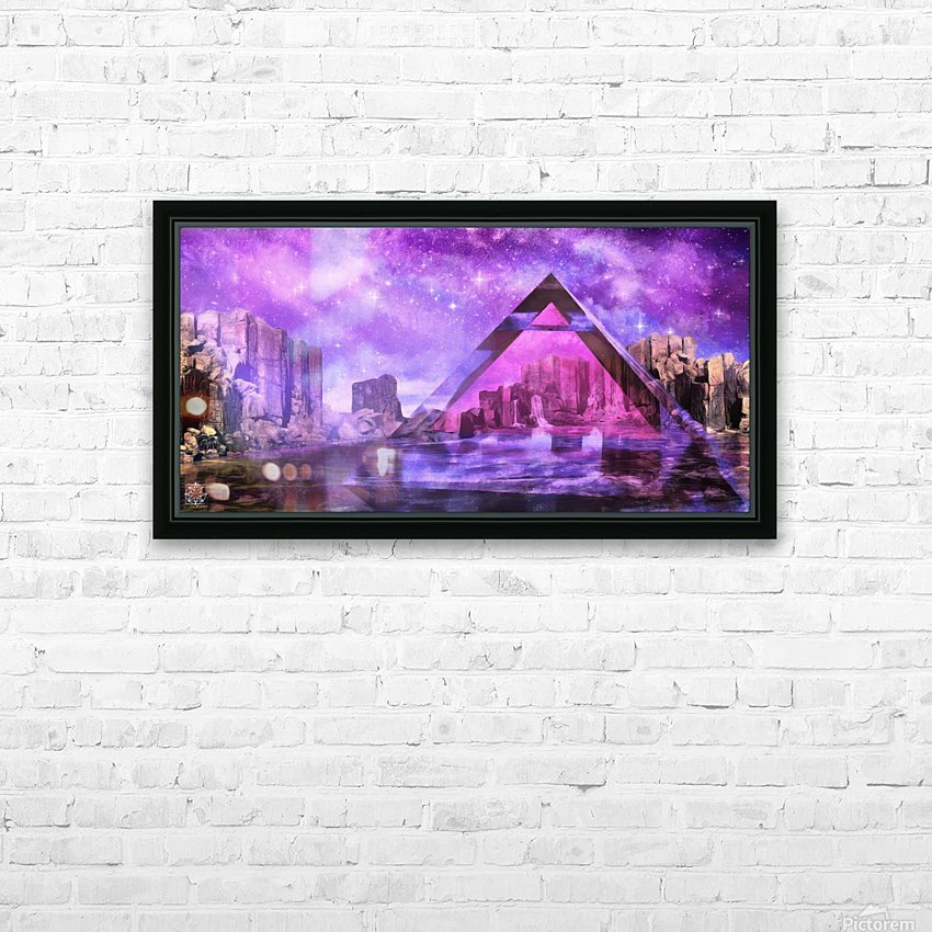 The Water Point HD Sublimation Metal print with Decorating Float Frame (BOX)