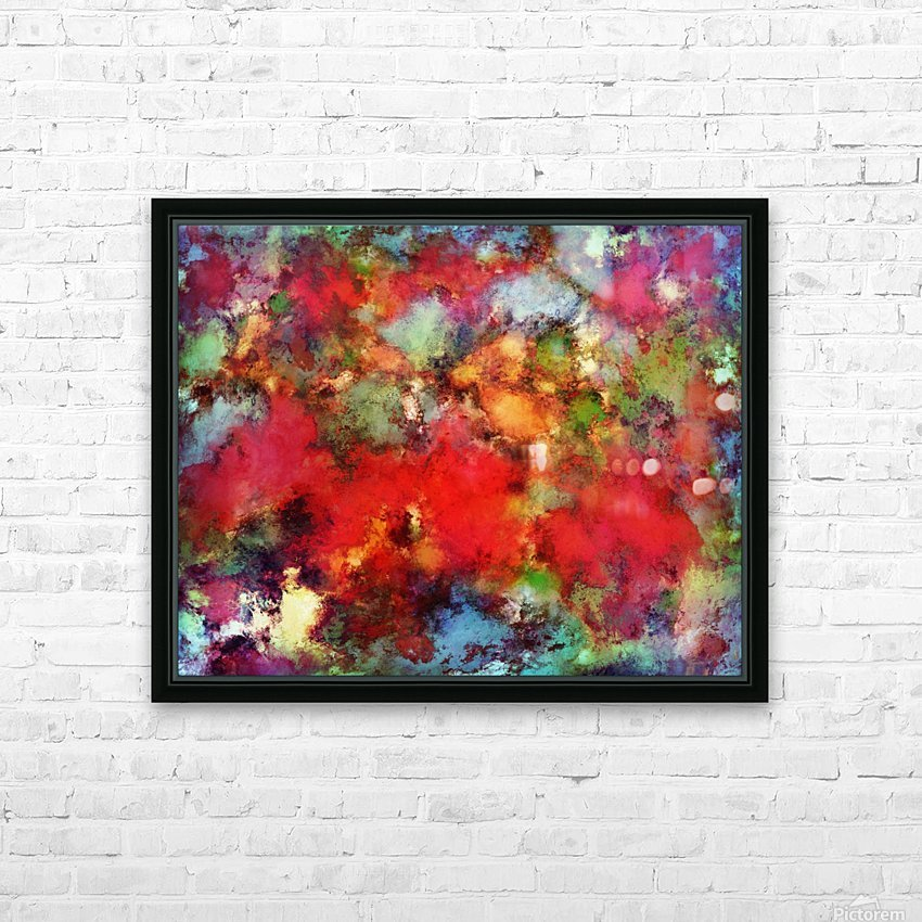 A red road HD Sublimation Metal print with Decorating Float Frame (BOX)