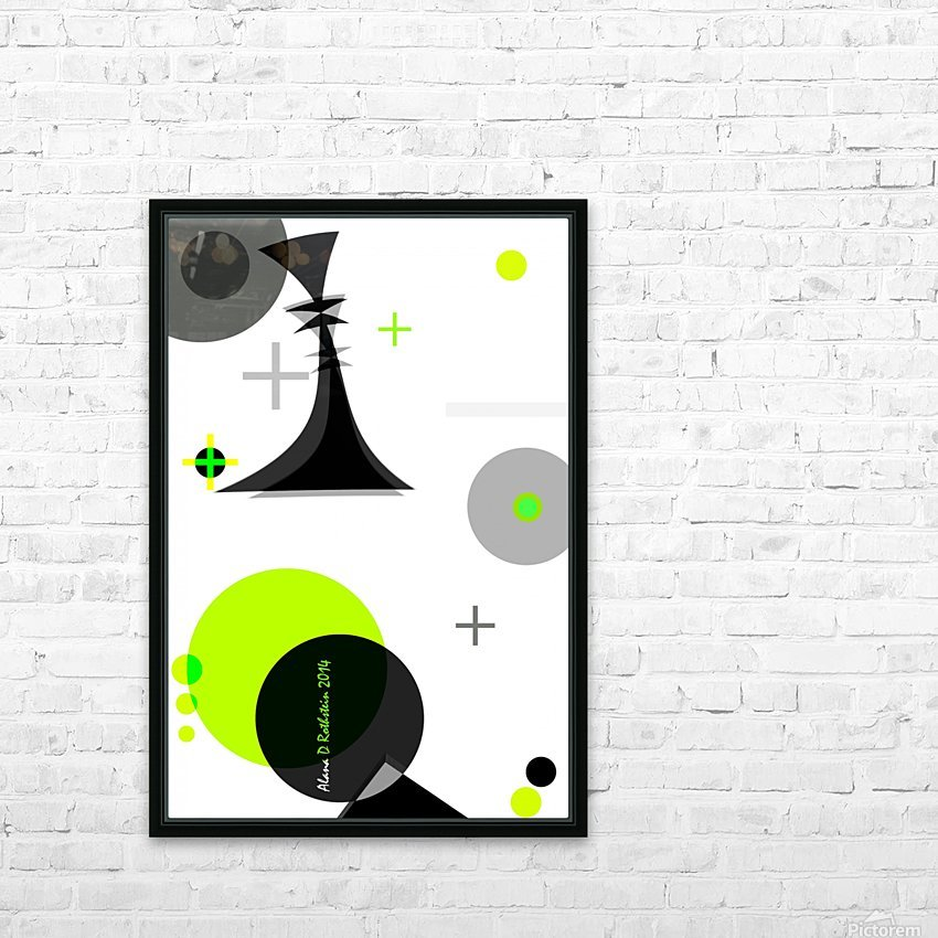 MATH 2 HD Sublimation Metal print with Decorating Float Frame (BOX)