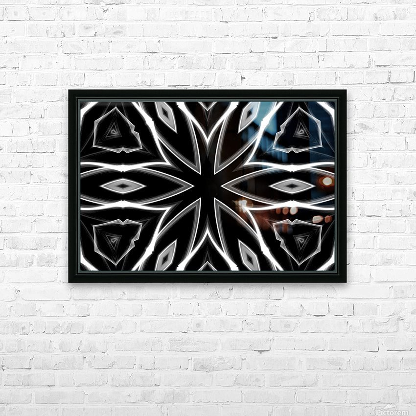 Monochrome Graffiti HD Sublimation Metal print with Decorating Float Frame (BOX)
