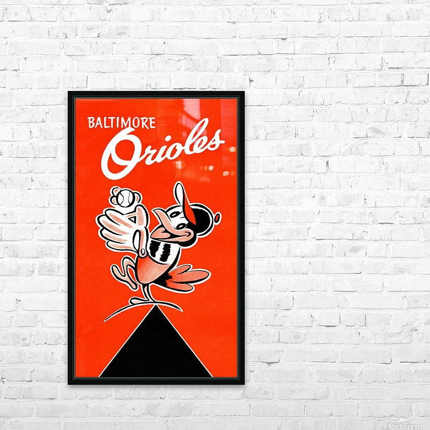 Baltimore Orioles Row One HD Sublimation Metal print with Decorating Float Frame (BOX)