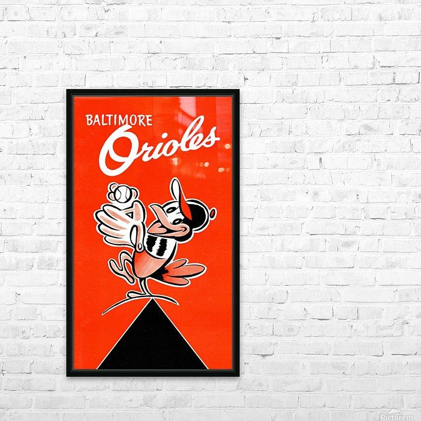 Baltimore Orioles Row One HD sublimation métal imprimé avec décoration flotteur cadre (boîte)