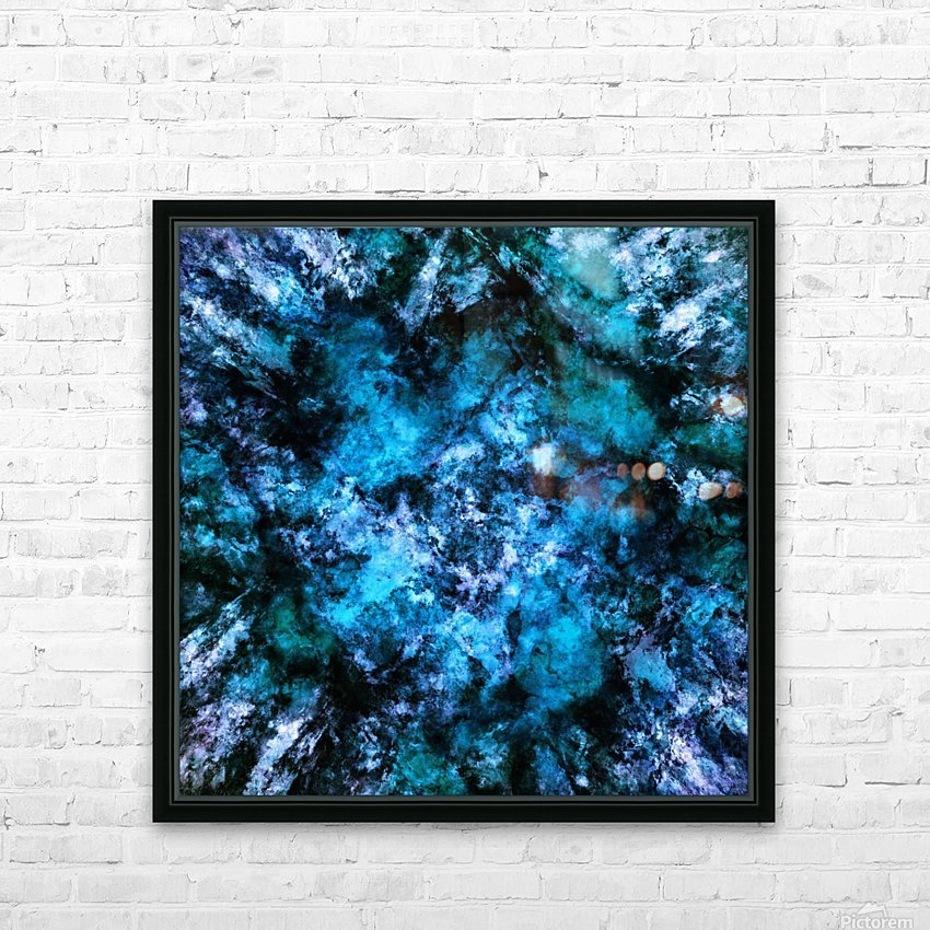 Blue burst HD Sublimation Metal print with Decorating Float Frame (BOX)