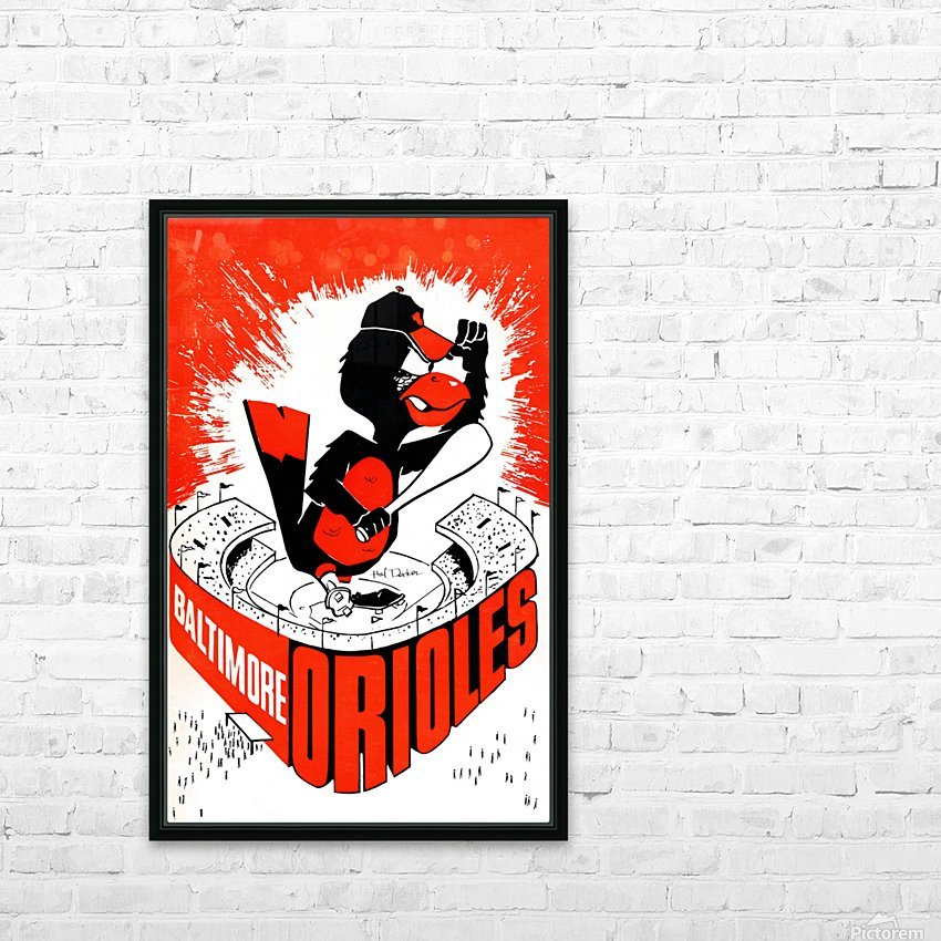 hal decker artist baltimore orioles poster HD sublimation métal imprimé avec décoration flotteur cadre (boîte)