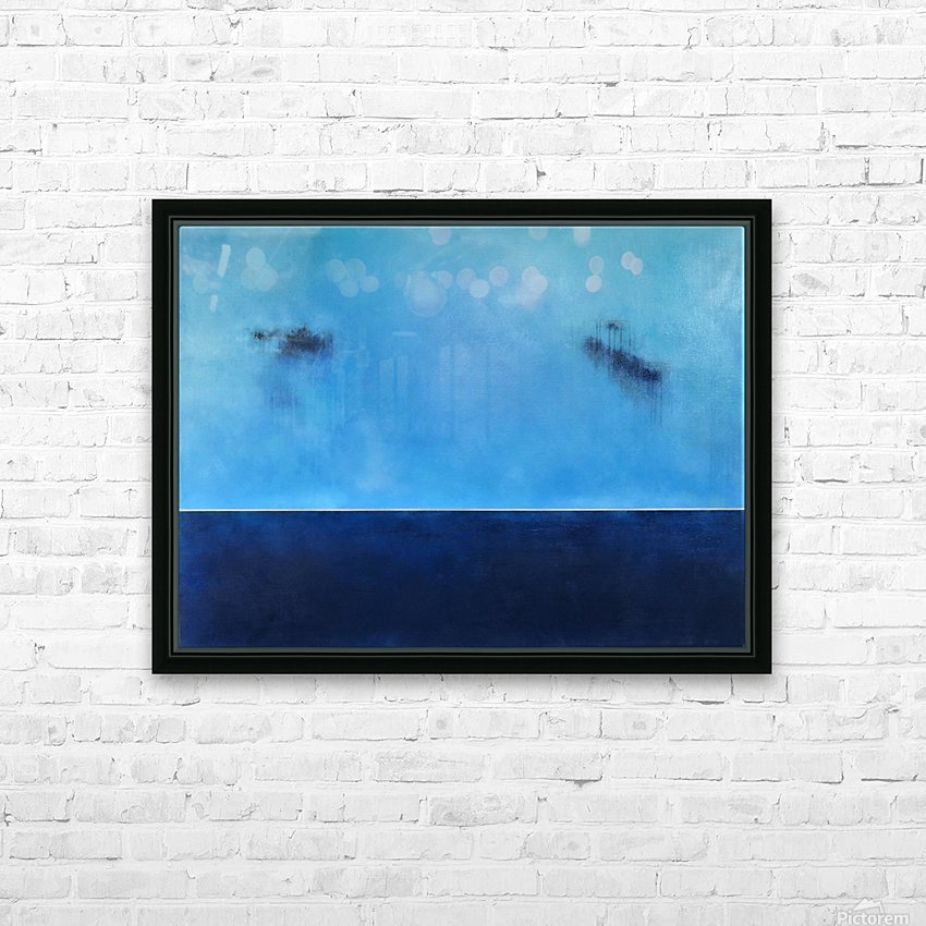 Golden Horizon Deep Blue Sea II HD Sublimation Metal print with Decorating Float Frame (BOX)