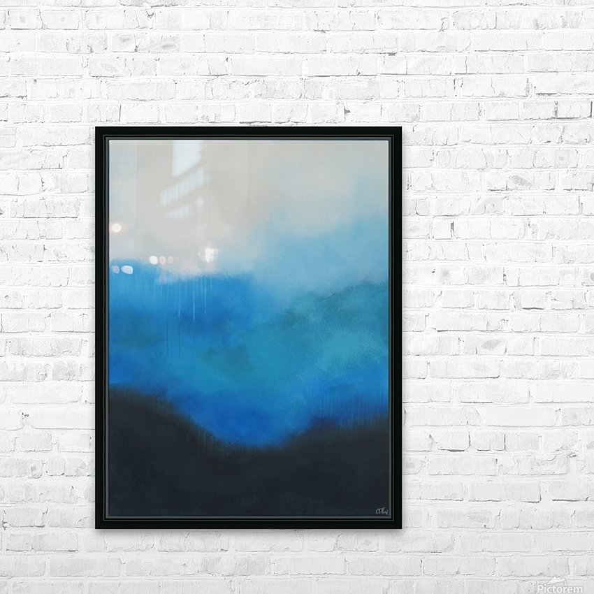 Tranquility Blue II. HD Sublimation Metal print with Decorating Float Frame (BOX)