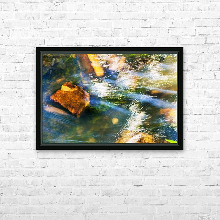 River I HD Sublimation Metal print with Decorating Float Frame (BOX)