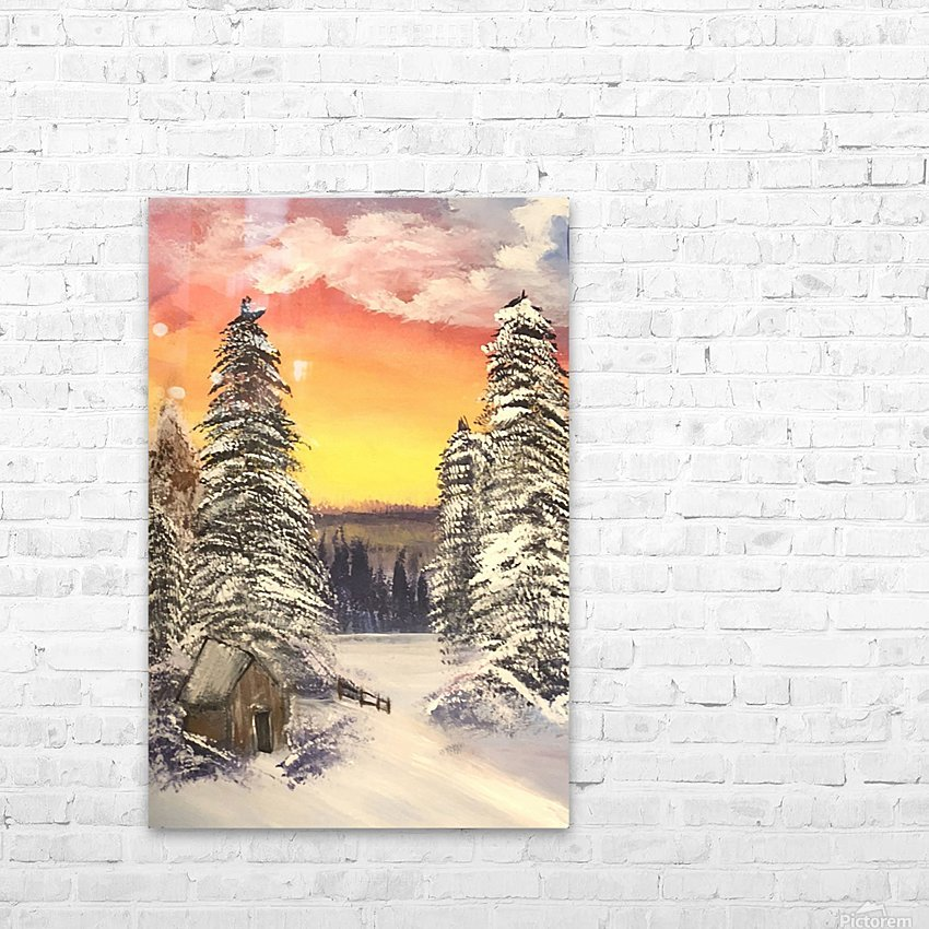 Snow At Sunset HD Sublimation Metal print with Decorating Float Frame (BOX)