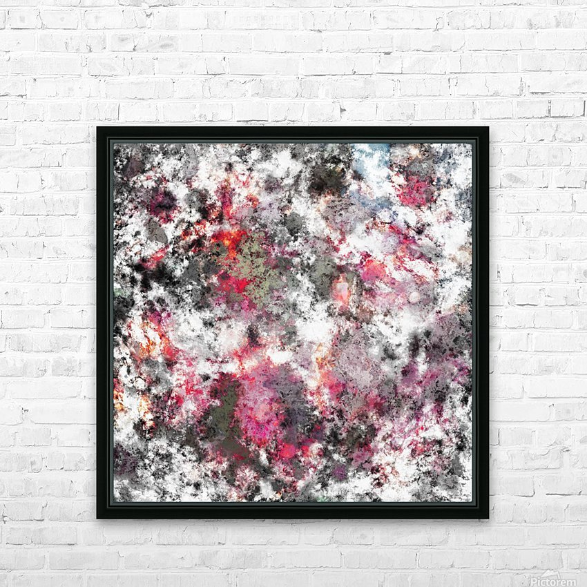 Frosty pink HD Sublimation Metal print with Decorating Float Frame (BOX)