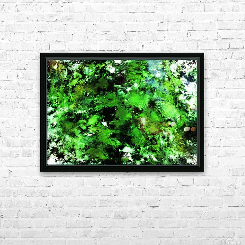 Green deflected HD Sublimation Metal print with Decorating Float Frame (BOX)