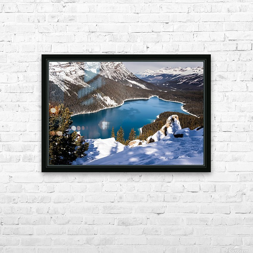 Peyto Lake Banff National Park HD Sublimation Metal print with Decorating Float Frame (BOX)