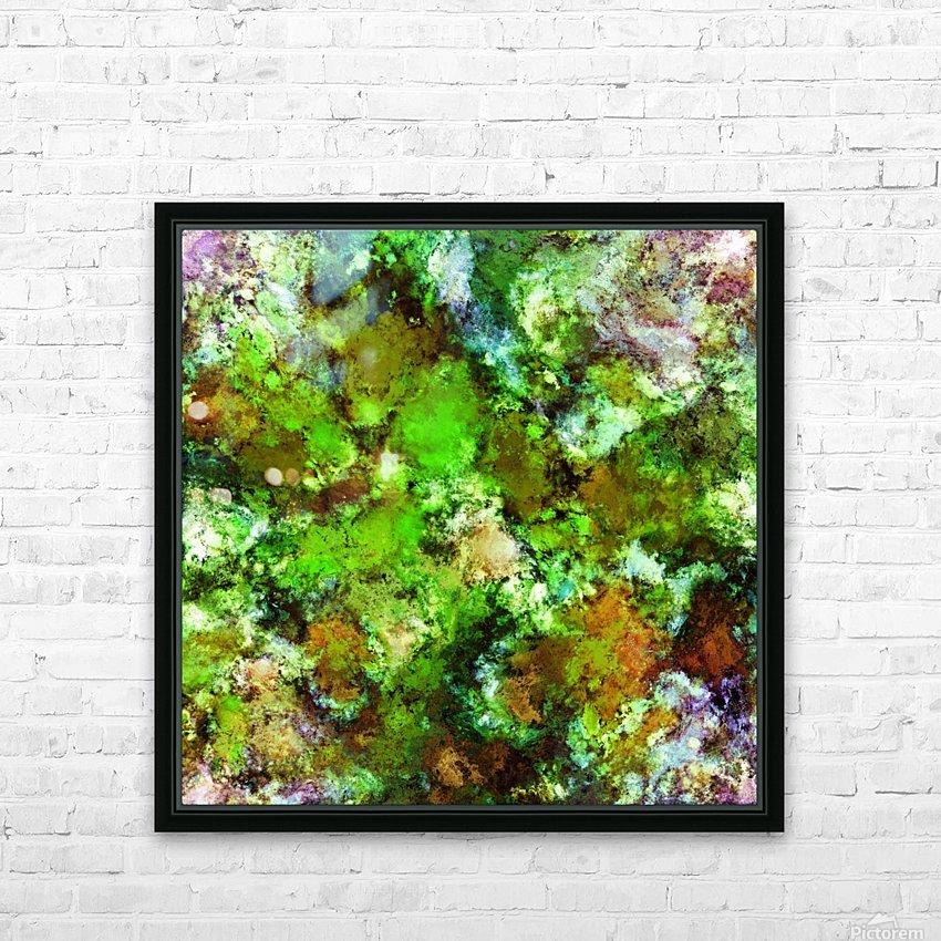 Green scene HD sublimation métal imprimé avec décoration flotteur cadre (boîte)