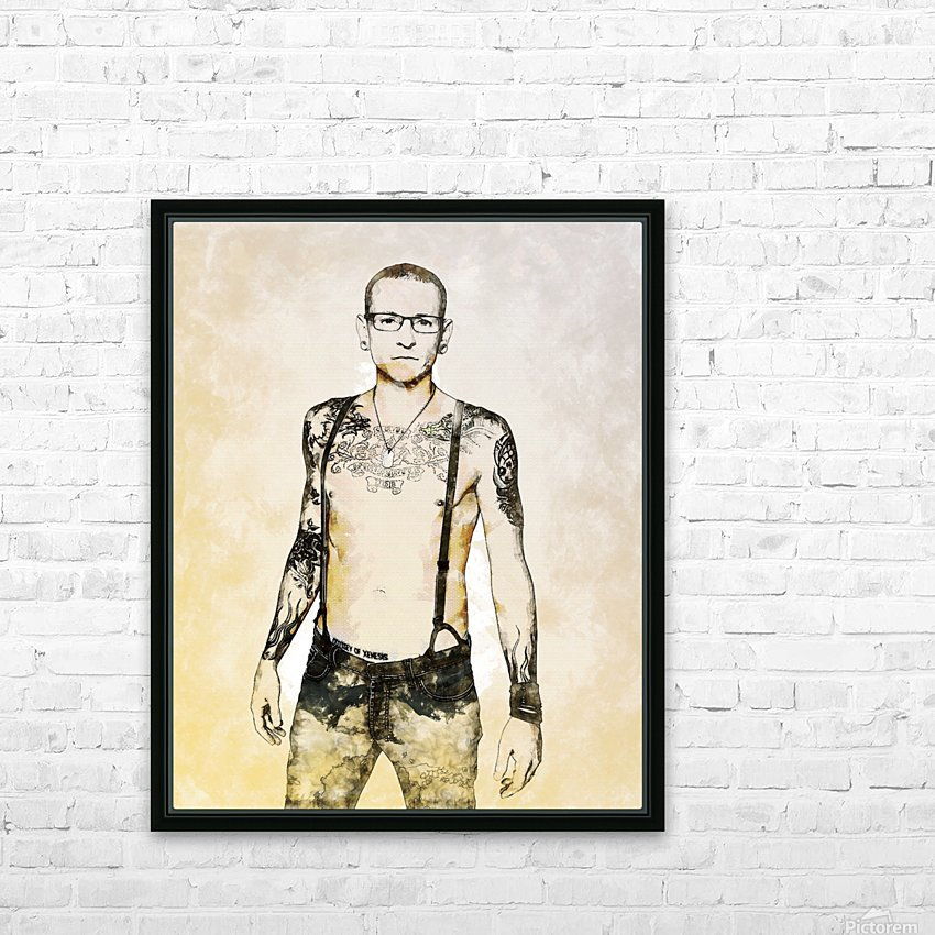 Chester Bennington HD Sublimation Metal print with Decorating Float Frame (BOX)