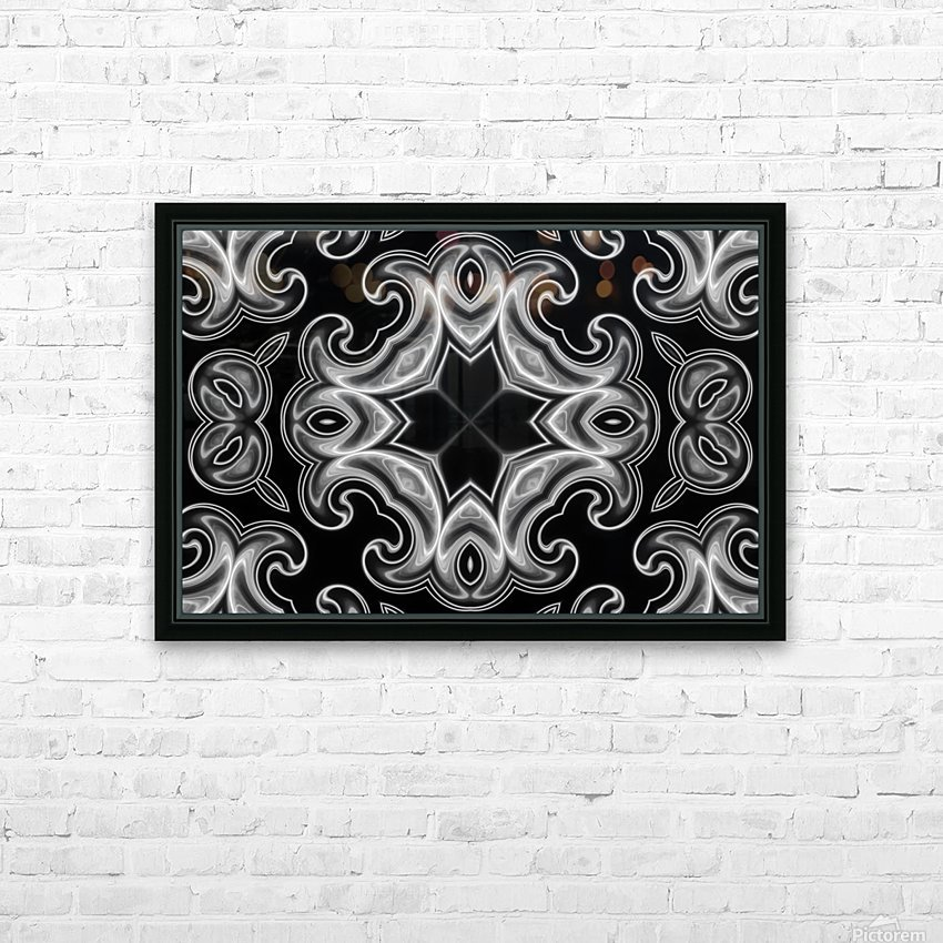Classic Fractal in black and white HD Sublimation Metal print with Decorating Float Frame (BOX)