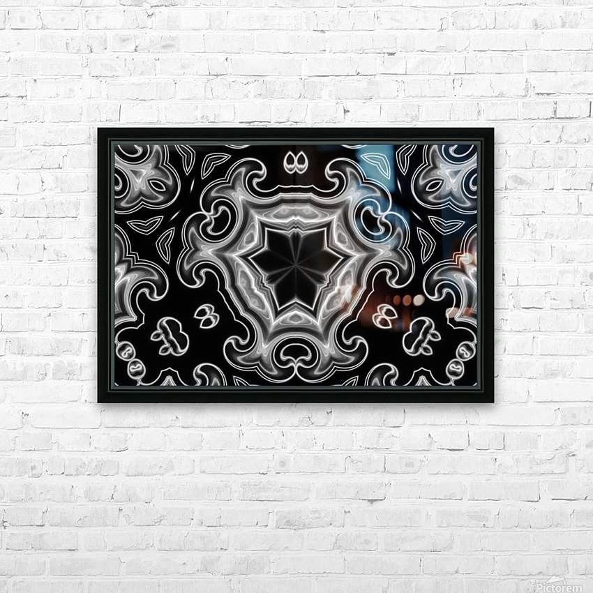 Abstract digital Art HD Sublimation Metal print with Decorating Float Frame (BOX)