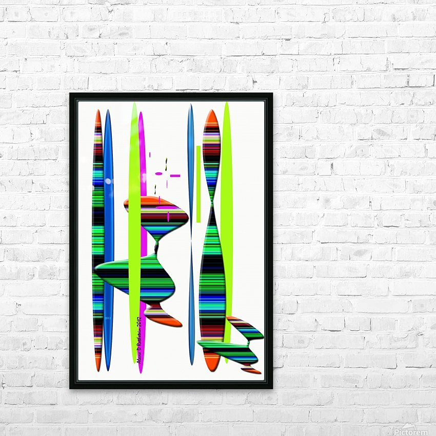 LINEAR 1 HD Sublimation Metal print with Decorating Float Frame (BOX)