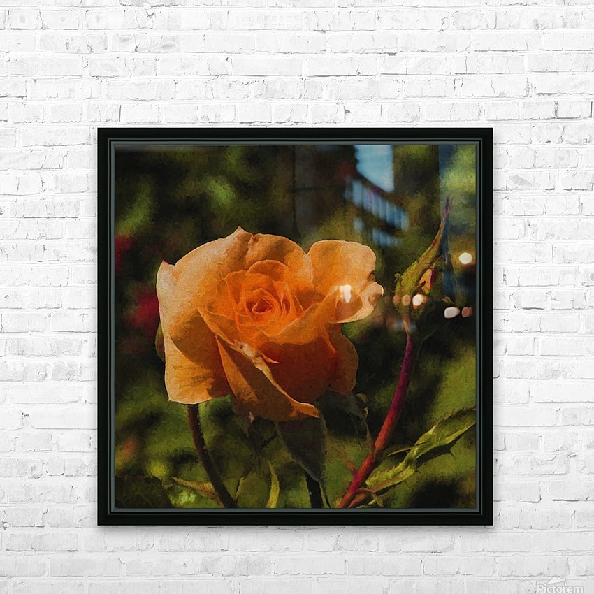 Orange Delight HD Sublimation Metal print with Decorating Float Frame (BOX)