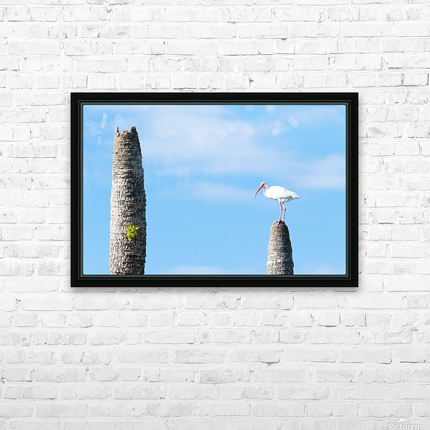 White bird HD Sublimation Metal print with Decorating Float Frame (BOX)