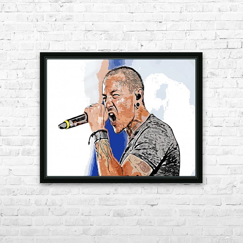 Chester Charles Bennington HD Sublimation Metal print with Decorating Float Frame (BOX)