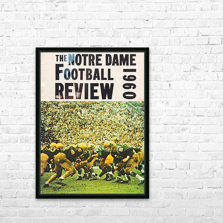 1960 notre dame football HD Sublimation Metal print with Decorating Float Frame (BOX)