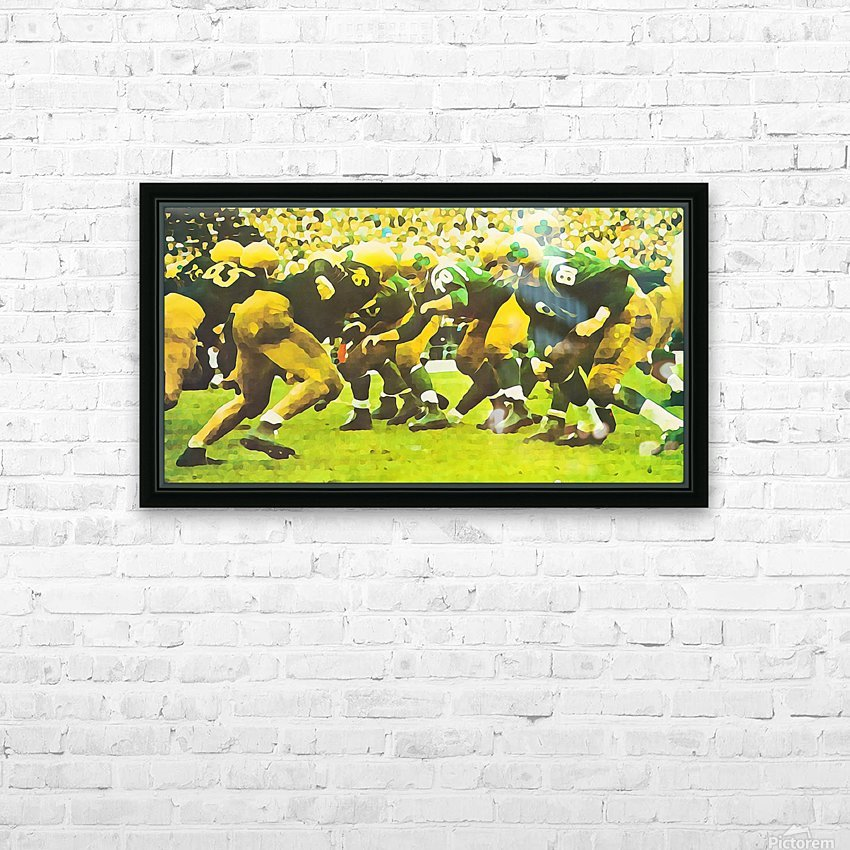 best notre dame football art HD Sublimation Metal print with Decorating Float Frame (BOX)