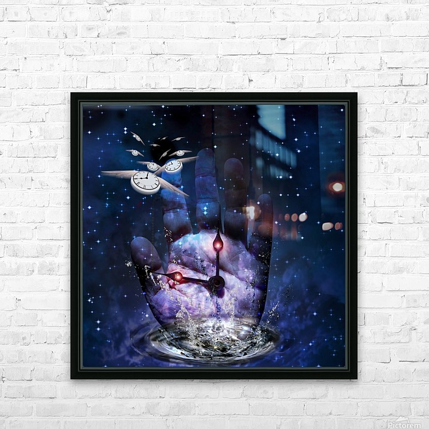 Hand of Time HD Sublimation Metal print with Decorating Float Frame (BOX)