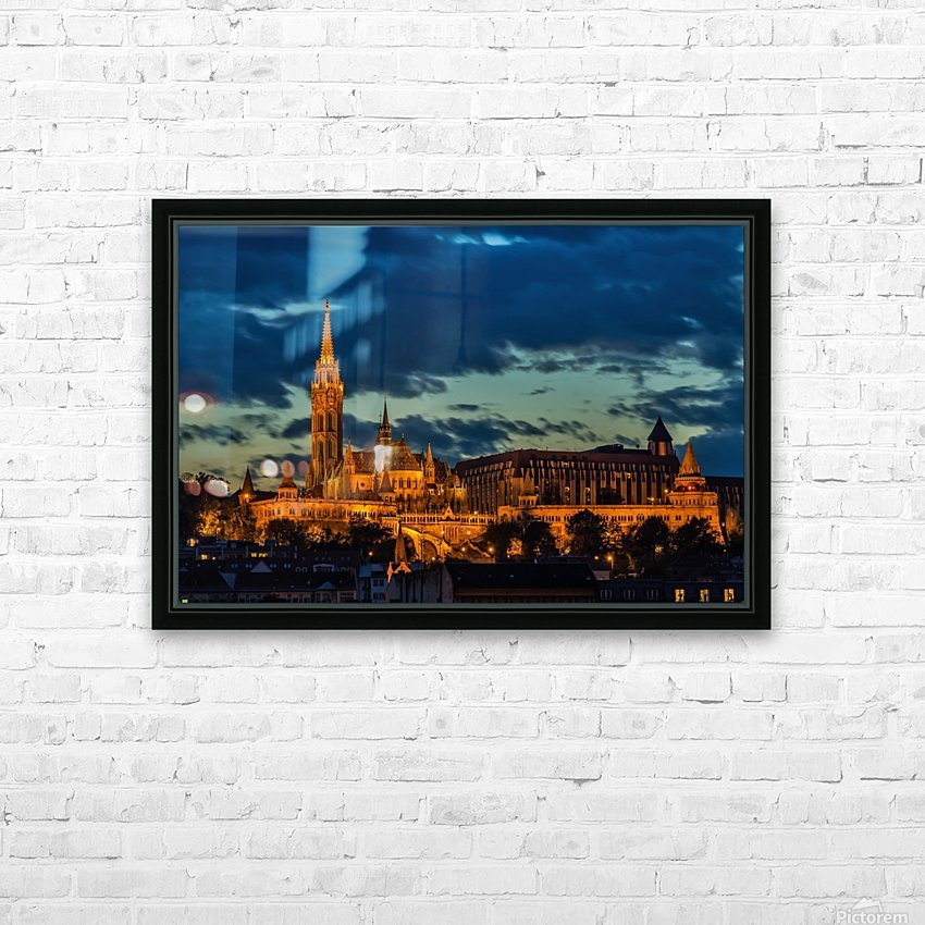 budapest church architecture HD Sublimation Metal print with Decorating Float Frame (BOX)