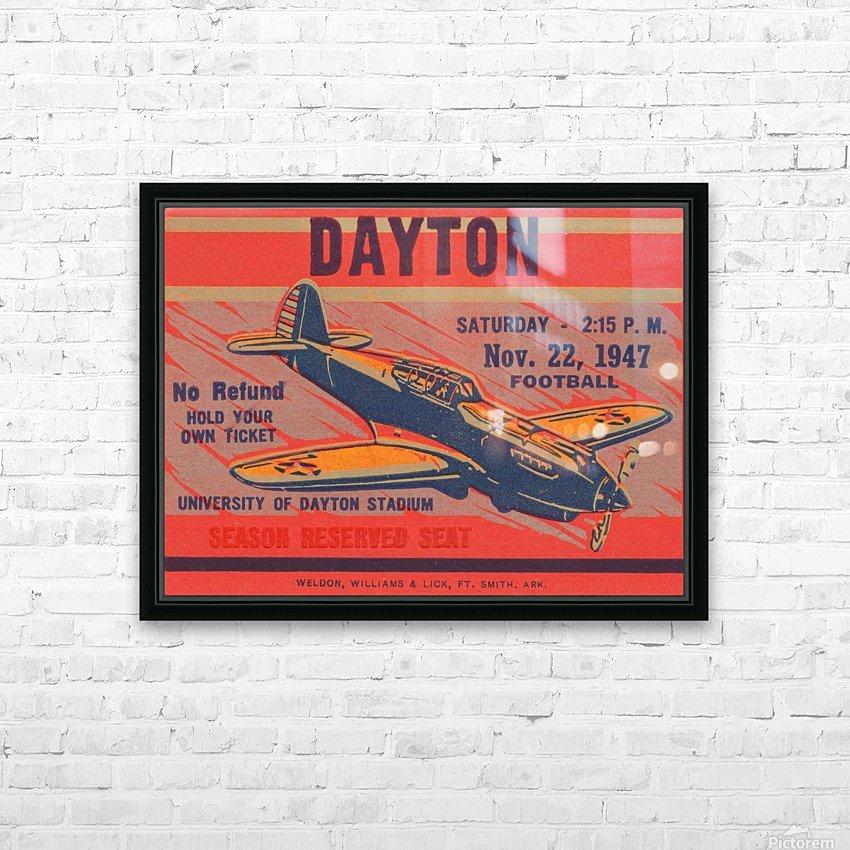 dayton ohio gift ideas HD Sublimation Metal print with Decorating Float Frame (BOX)