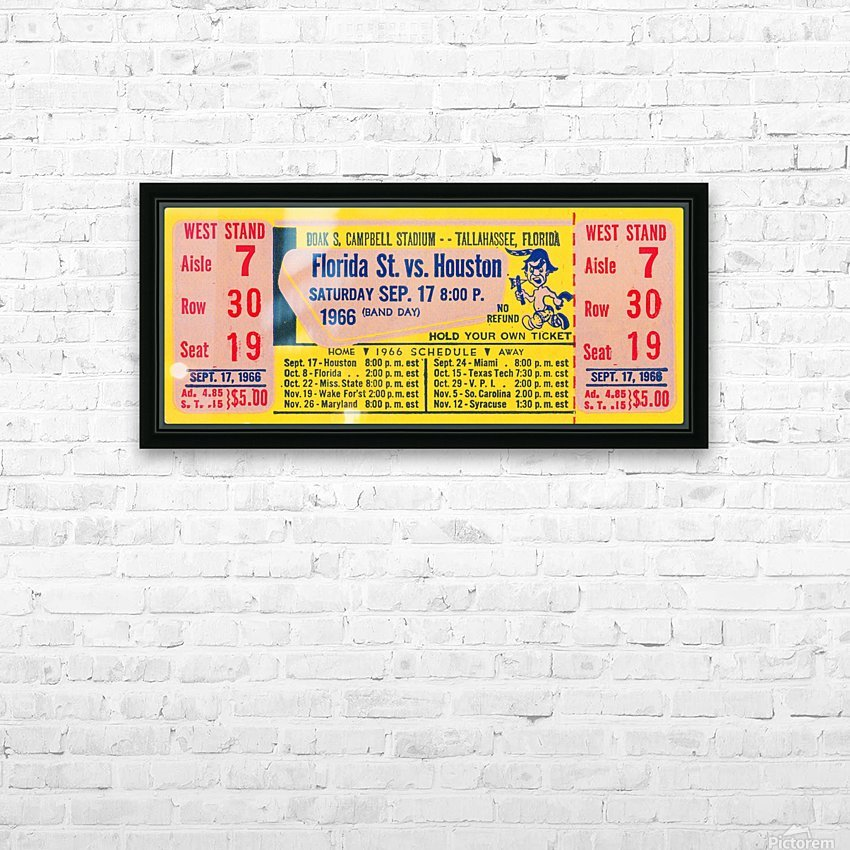 florida state seminoles ticket stub art HD Sublimation Metal print with Decorating Float Frame (BOX)