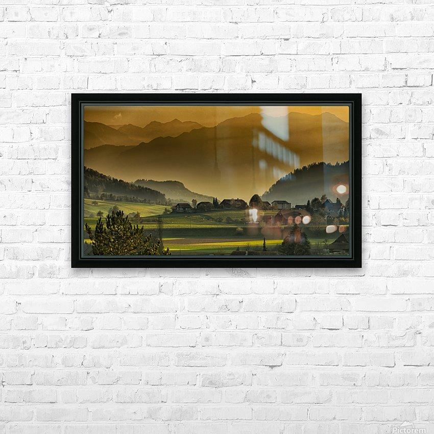 landscape autumn twilight mountains_1588527933.2293 HD Sublimation Metal print with Decorating Float Frame (BOX)