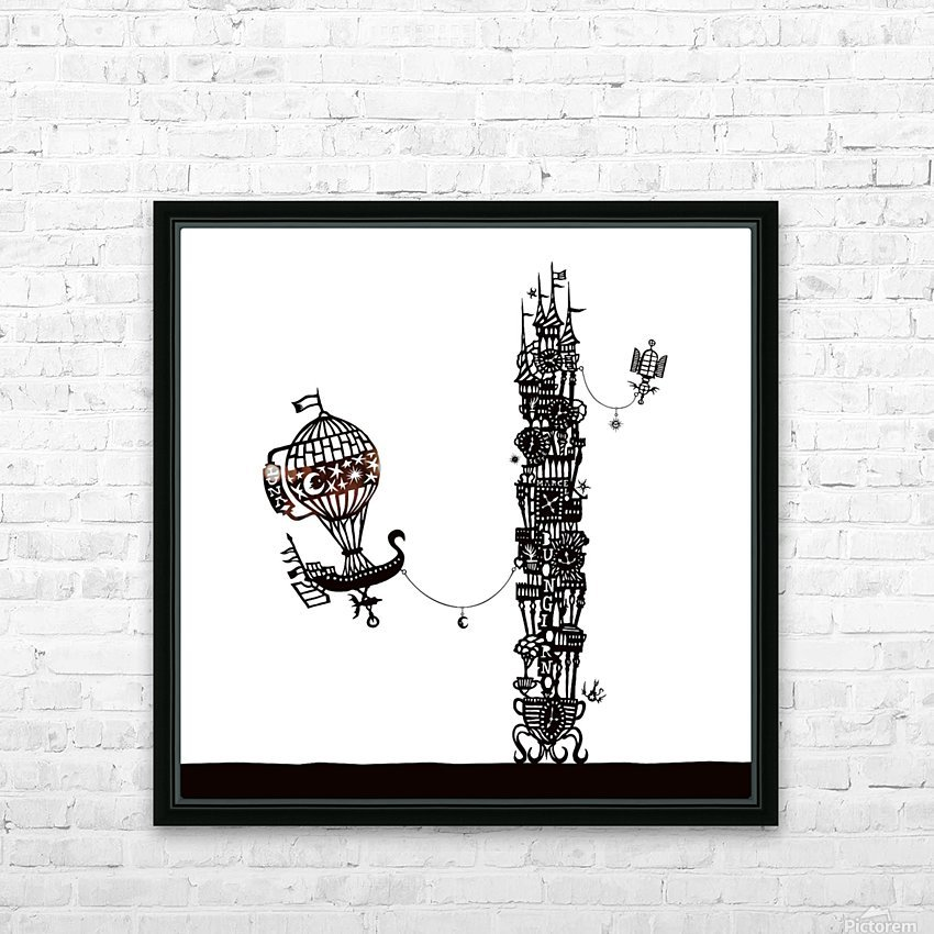 Torre dell orologio HD Sublimation Metal print with Decorating Float Frame (BOX)