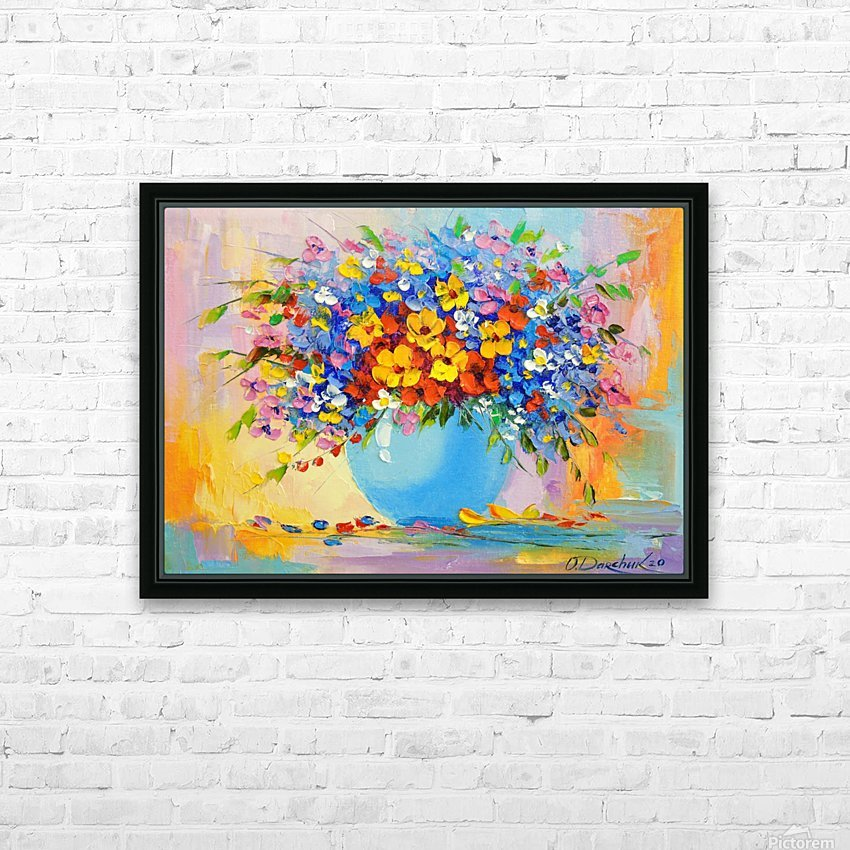 A bouquet of bright flowers HD Sublimation Metal print with Decorating Float Frame (BOX)