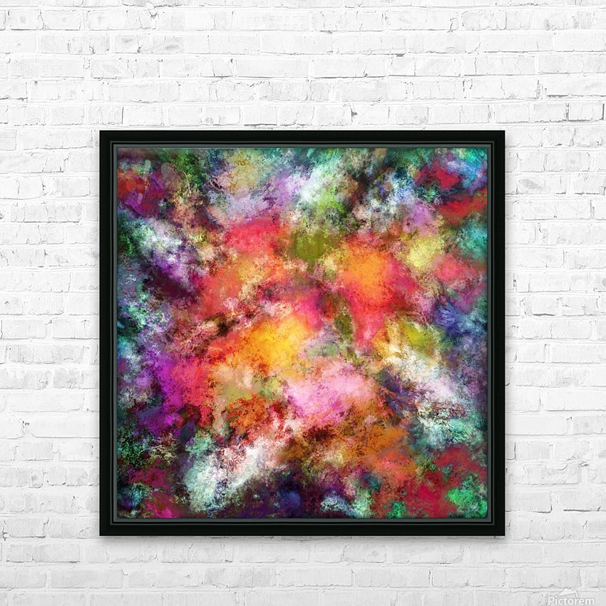 Lovely flowers HD Sublimation Metal print with Decorating Float Frame (BOX)